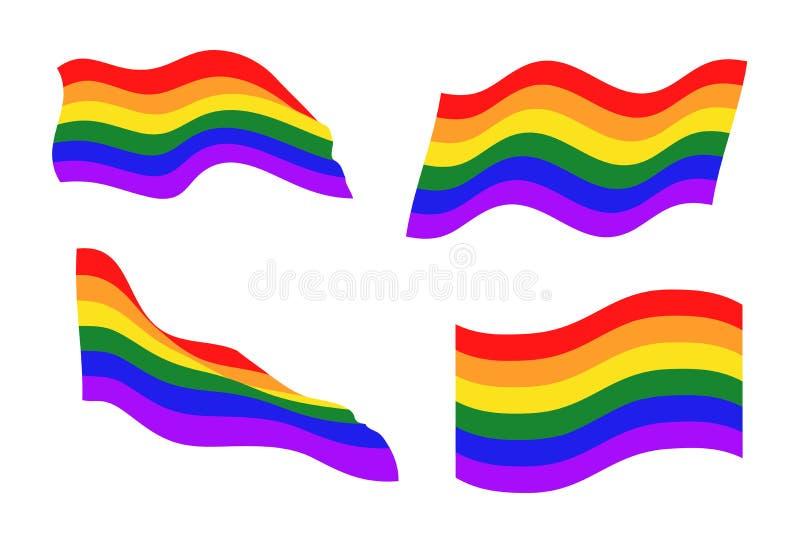 De communautaire vlaggen van LGBT royalty-vrije illustratie