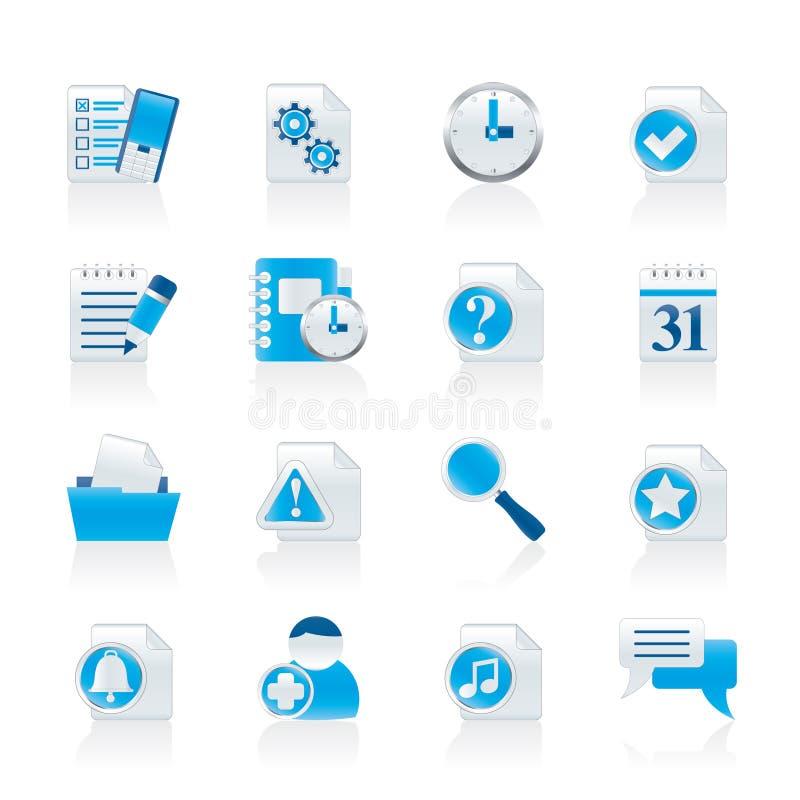 De communicatie en aansluting pictogrammen van de organisator, vector illustratie