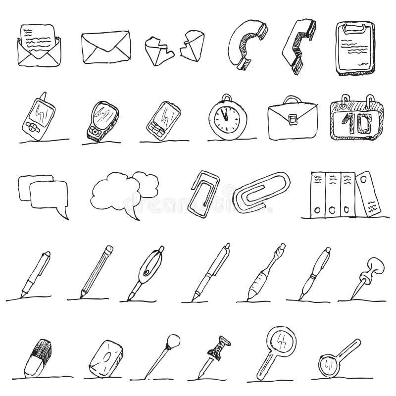 De communicatie hand trekt element   vector illustratie