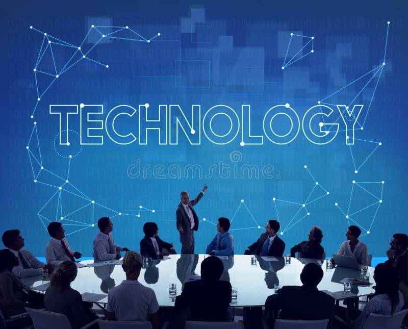 De Communicatie van de technologieverbinding Informatieconcept van Internet royalty-vrije stock afbeelding