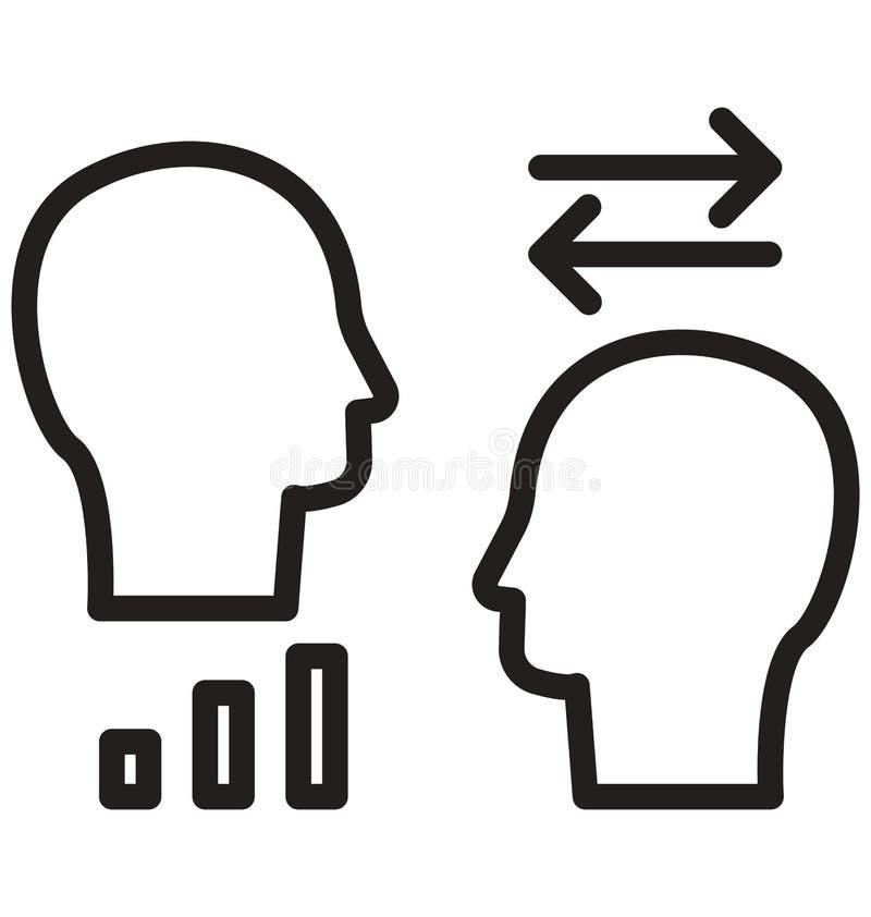 De communicatielijn isoleerde vectorpictogram kan gemakkelijk worden gewijzigd en uitgeven royalty-vrije illustratie