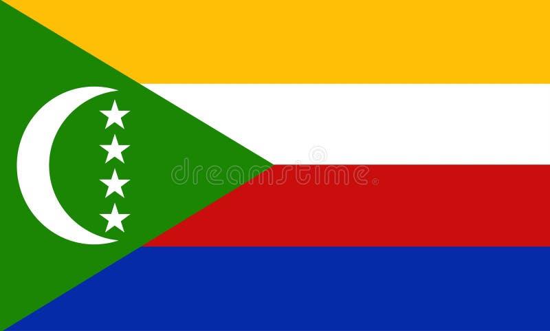 De Comoren royalty-vrije illustratie