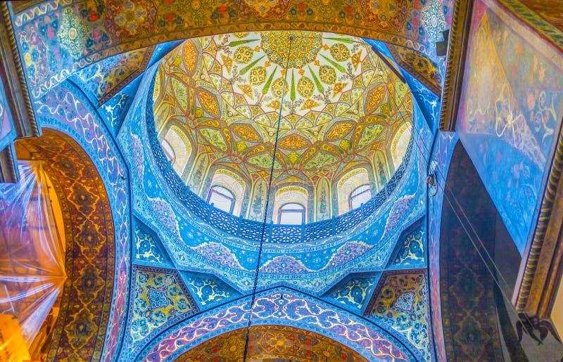 De complexe patronen in Kathedraal royalty-vrije stock afbeeldingen