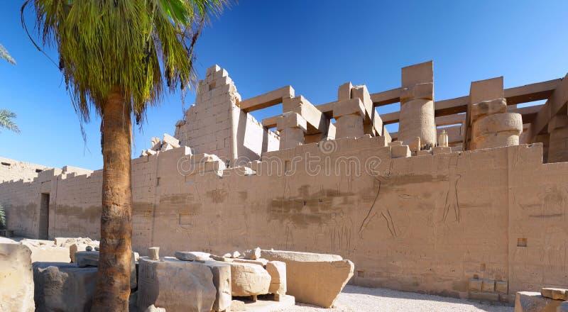 De complexe Tempel Karnak, Luxor stock afbeeldingen
