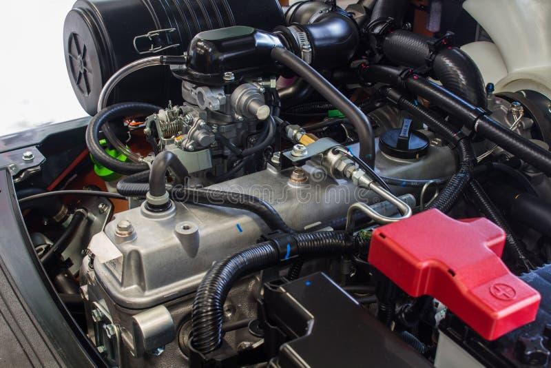 De Componenten - de Motor van de Materiaalvorkheftruck stock foto's