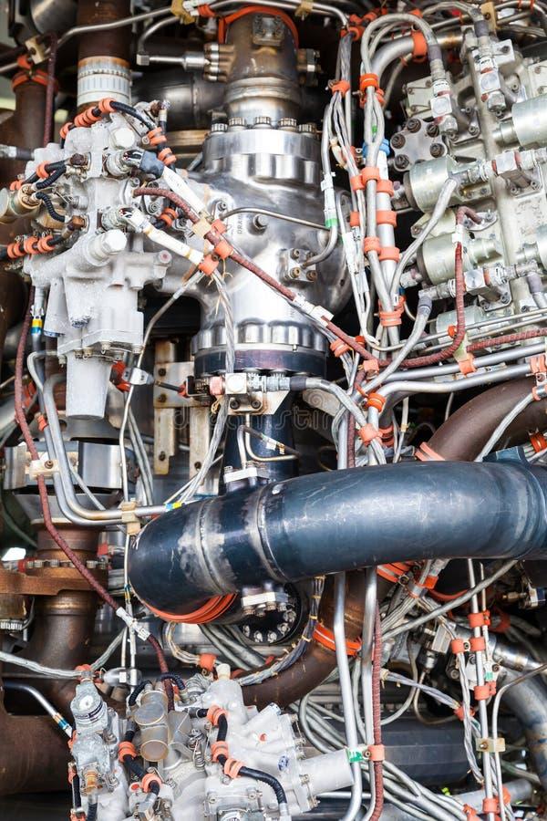 De componenten van de straalmotor royalty-vrije stock afbeelding