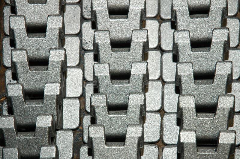 De componenten van het metaal stock foto's