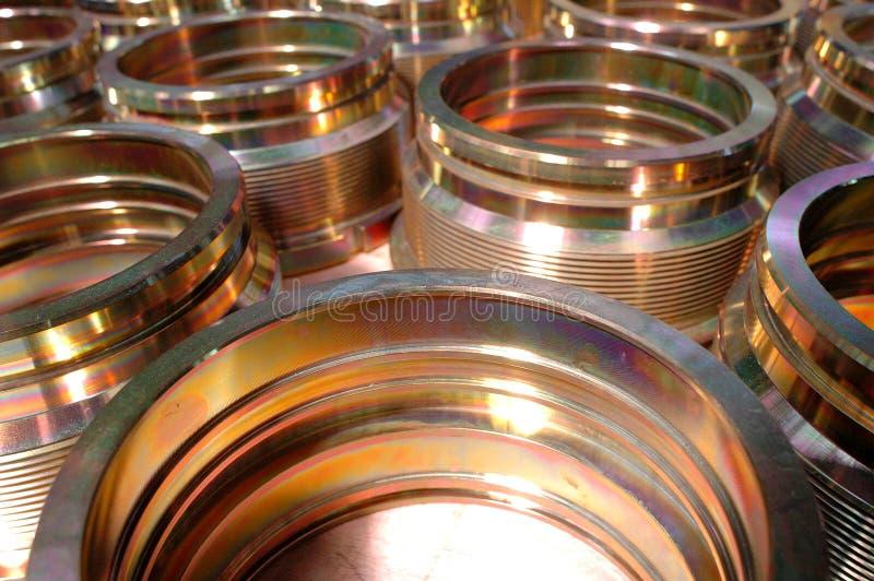 De componenten van het metaal stock fotografie