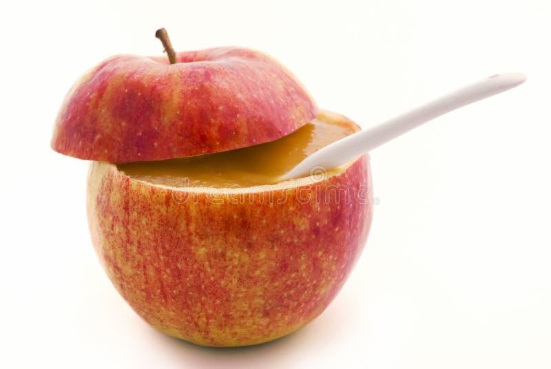 De Compote van de appel stock afbeeldingen