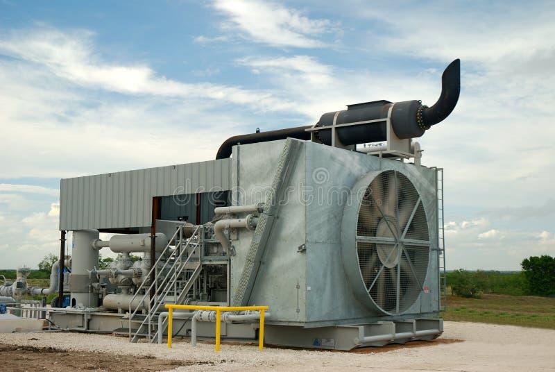 De Compressor van het gas stock afbeelding