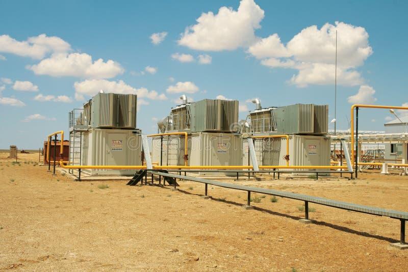 De compressoren van het gas. stock afbeelding