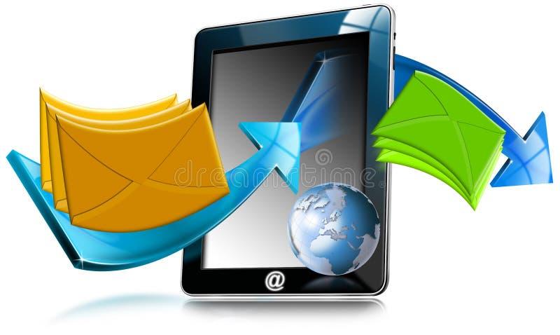 De Computer E-mail van de tablet royalty-vrije illustratie