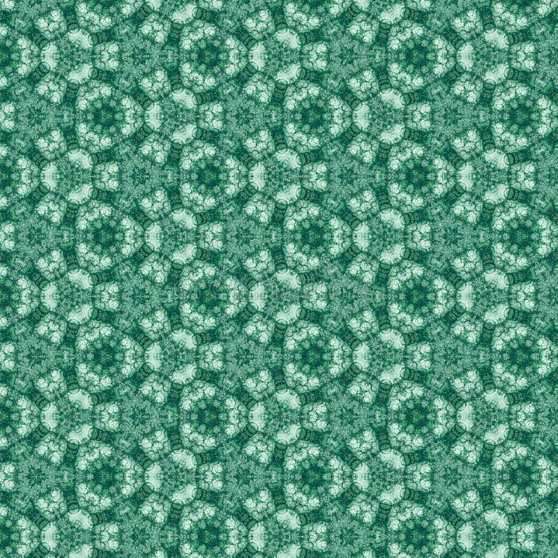 De computer produceerde kleurrijk fractal wintertalingspatroon, digitaal kunstwerk voor achtergrond van kaart, uitnodiging, banne stock illustratie