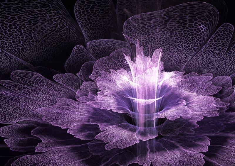 Purpere futurustic bloem vector illustratie