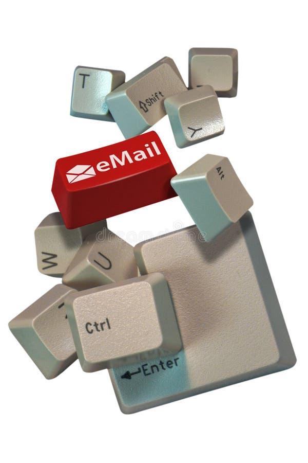 De computer sluit e-mail stock foto's