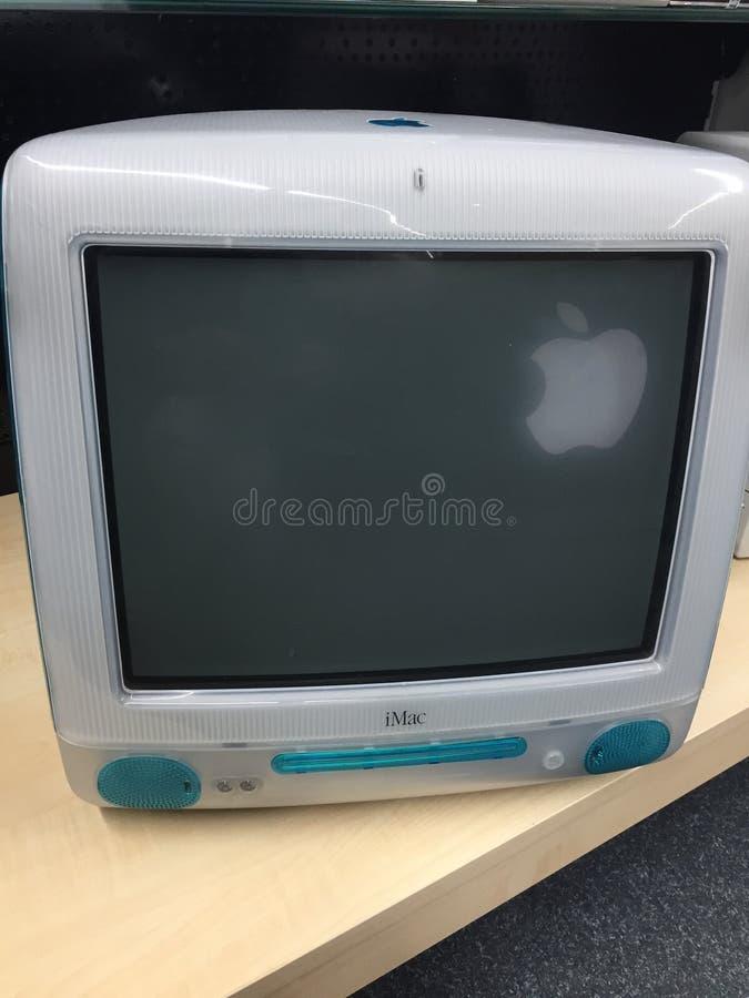 De computer van Apple iMac G3 royalty-vrije stock foto's