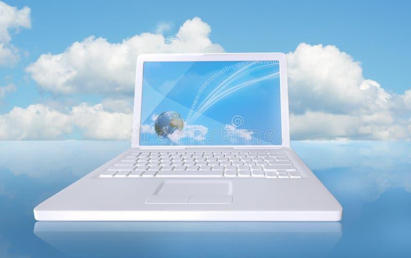 De computer van de wolk stock illustratie