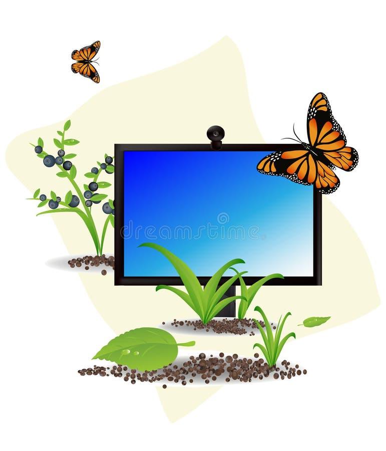 De computer van de zomer stock illustratie
