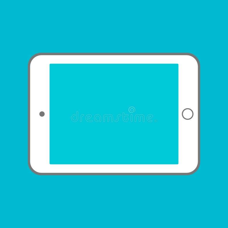 De computer van de tablet met het lege scherm Gebruikend digitale tabletpc gelijkend op ipad, vlak ontwerpconcept stock illustratie