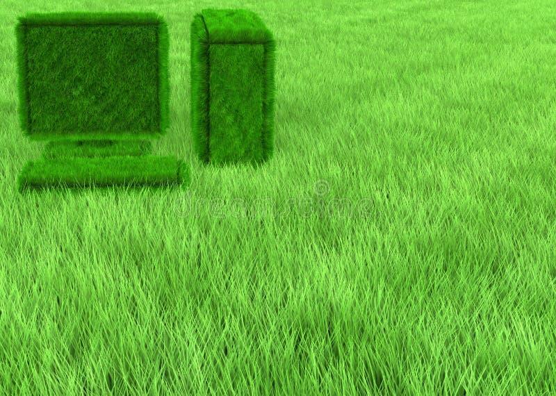 De computerbehang van het gras stock afbeeldingen