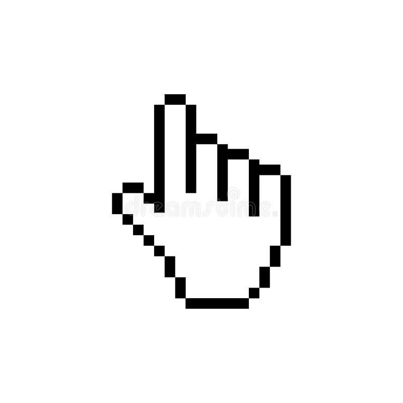 De computermuis klikt pictogram van de curseur het grijze pijl Muis vectorillustratie stock illustratie