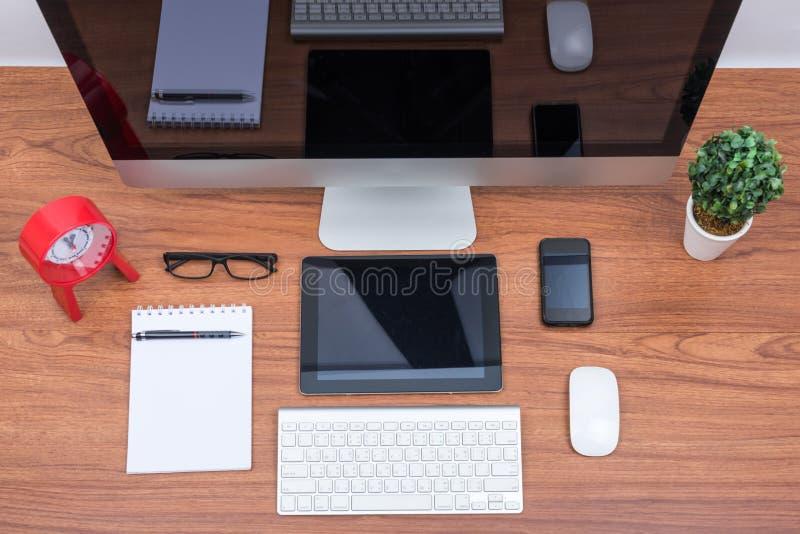 De computerpc van de bureaumonitor, stock foto's