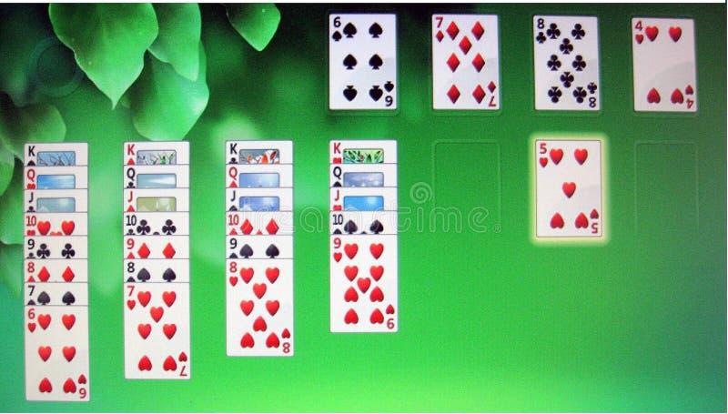 De Computerspel van patienceharten royalty-vrije stock foto's