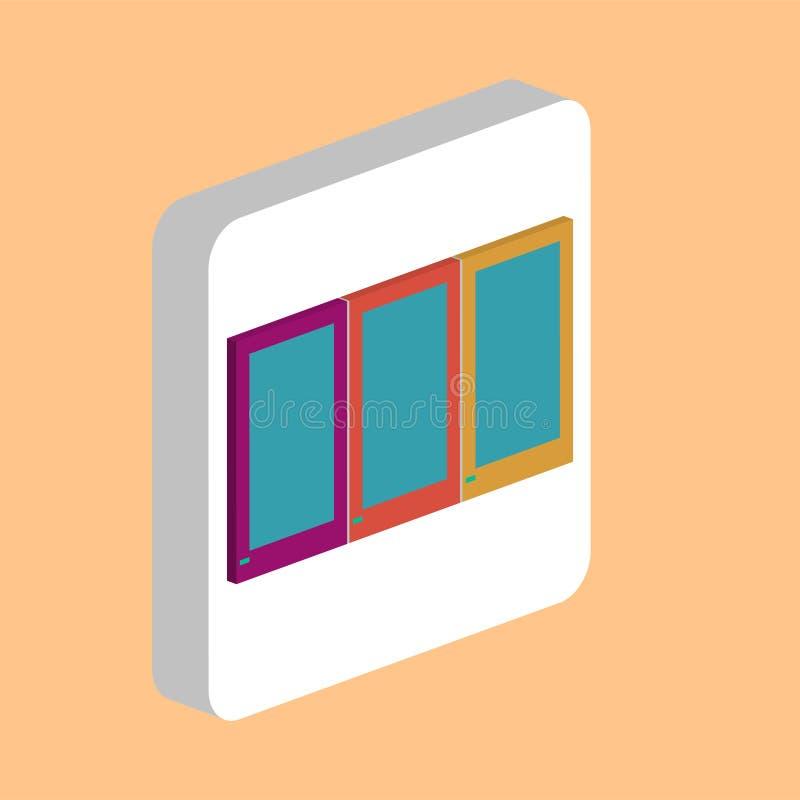 De computersymbool van de garderobekast vector illustratie