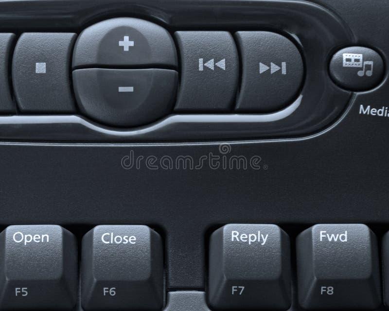 De computertoetsenbord van media royalty-vrije stock foto