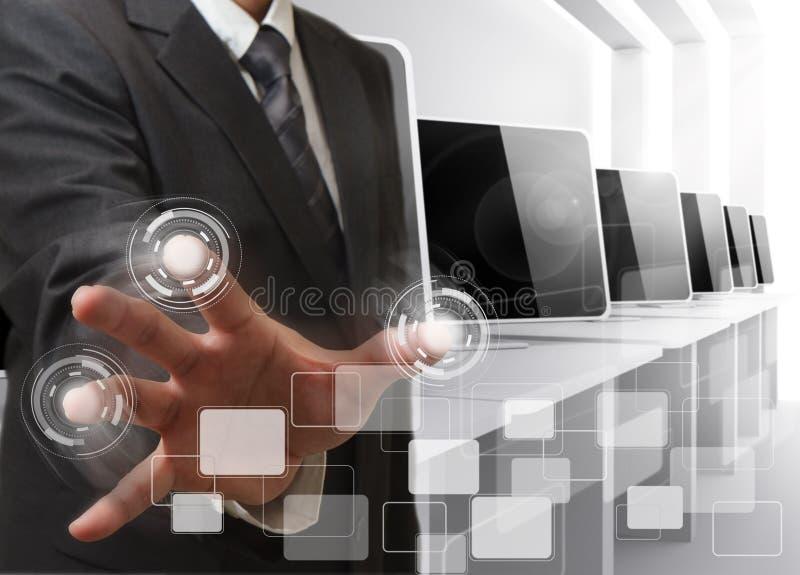 de computerzaal van handcontroles royalty-vrije stock foto