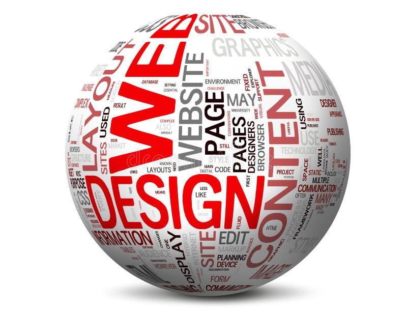 De Concepten van het Ontwerp van het Web royalty-vrije illustratie