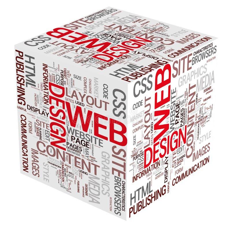 De Concepten van het Ontwerp van het Web stock illustratie