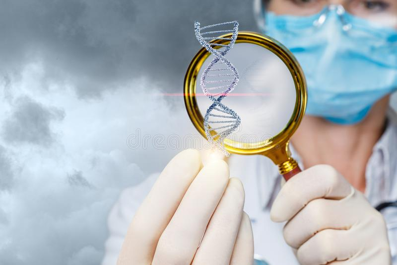 De conceptenstudie van de DNA-molecule royalty-vrije stock foto