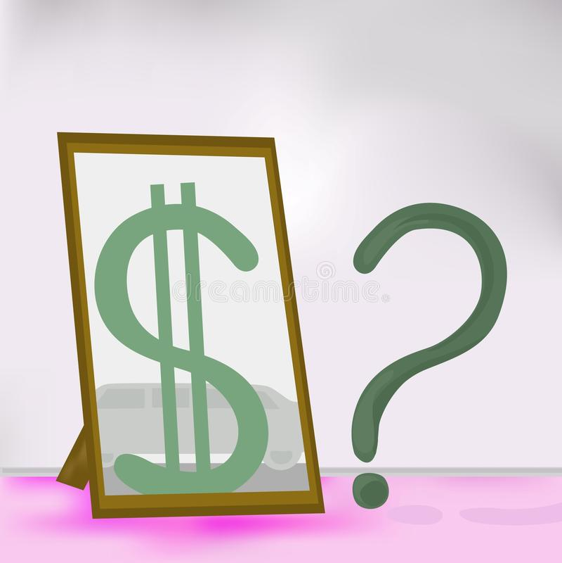 De conceptie van geld. stock illustratie