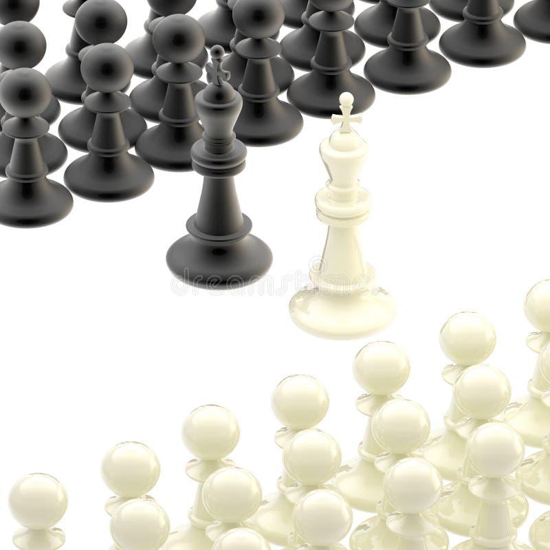 De conceptie van het schaak: oppositie en de concurrentie royalty-vrije illustratie