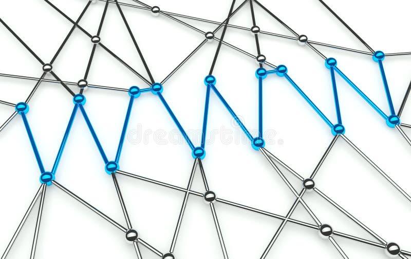 De Conceptie van Www, Mededeling in het Netwerk van het Web vector illustratie