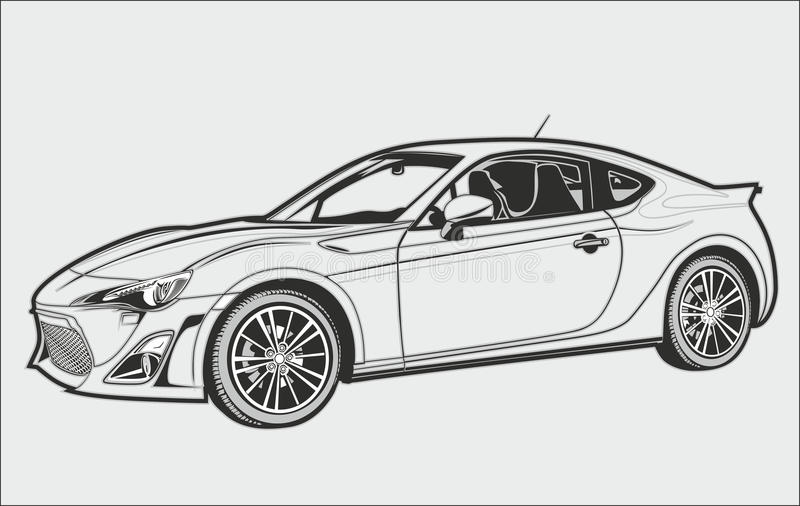 De conceptuele auto stock fotografie
