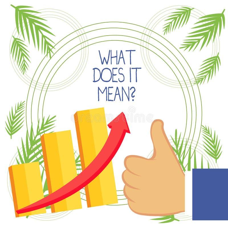 De conceptuele hand die tonend wat het schrijven doet betekent Vraag Bedrijfsfoto demonstratie het vragen betekenend bovengenoemd vector illustratie