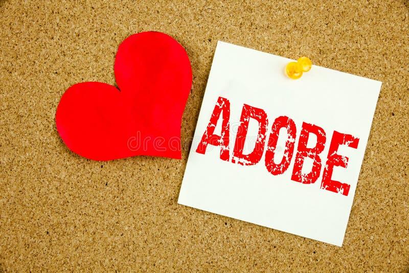 De conceptuele hand het schrijven inspiratie die van de teksttitel die ADOBE-concept voor Software Company Firmanaam en Liefde to vector illustratie