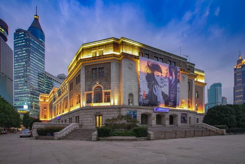De Concertzaal van Shanghai stock afbeelding