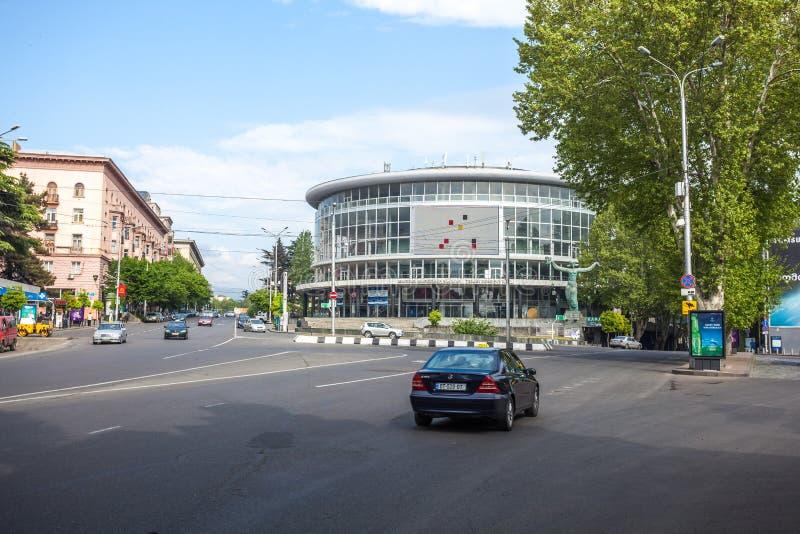 De Concertzaal van Tbilisi in Tbilisi, de hoofdstad van Georgië royalty-vrije stock foto