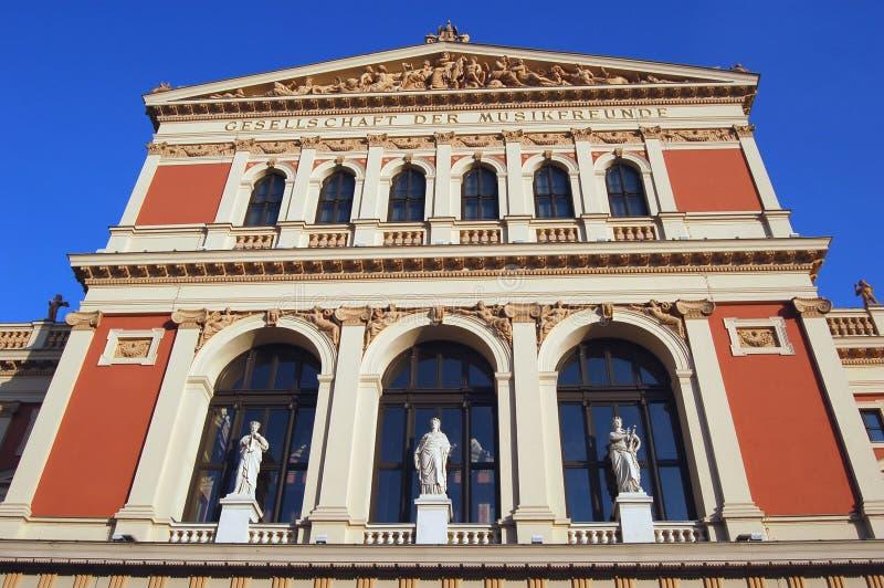 De Concertzaal van Wenen stock afbeeldingen