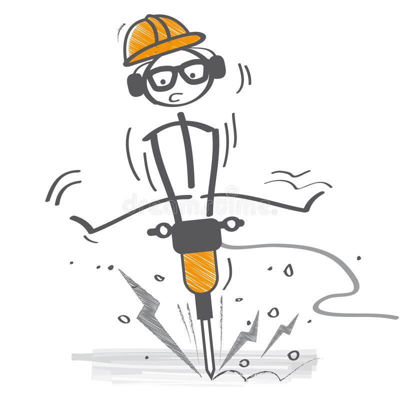 De Concrete Elektrische Breker van het bouwersgebruik vector illustratie