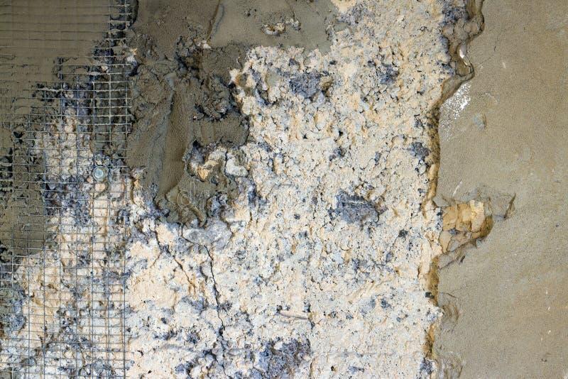 De concrete oude reparatie van de muurversterking royalty-vrije stock fotografie