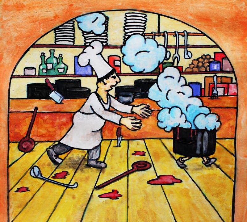 De concurrentie van de chef-kok vector illustratie