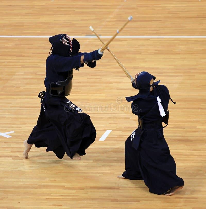 De concurrentie van Kendo stock afbeeldingen