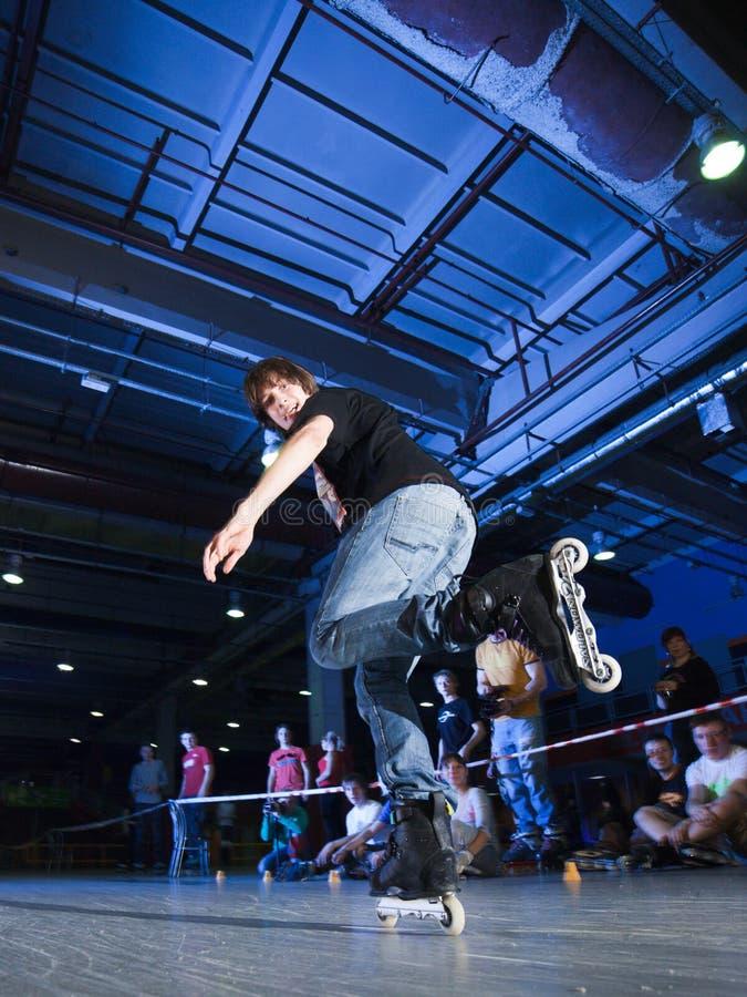 De concurrentie van Rollerblading royalty-vrije stock foto