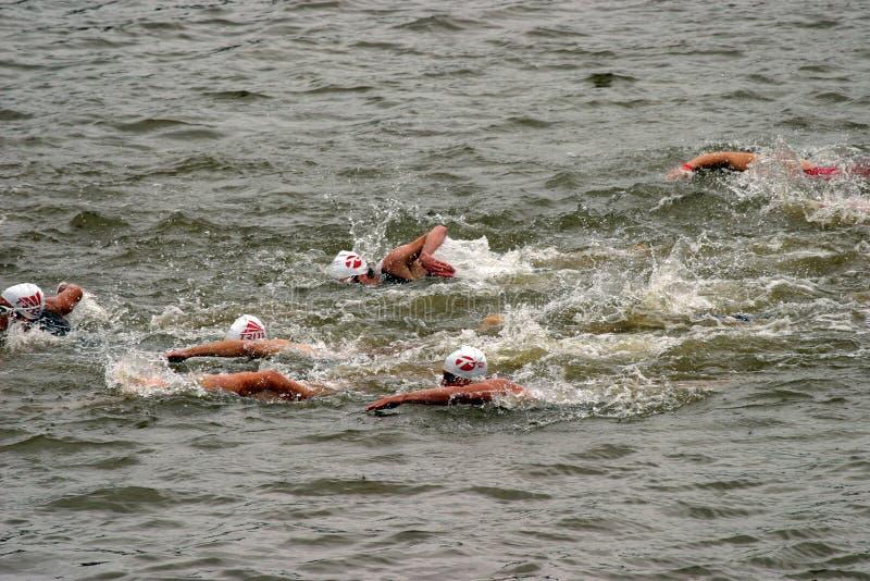 De concurrentie van Triathlon royalty-vrije stock afbeelding