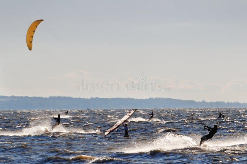 De concurrentie van Windsurf royalty-vrije stock foto's