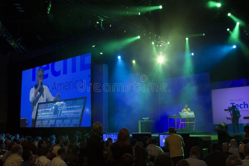 De Conferentie 2012 van Microsoft TechEd stock afbeeldingen